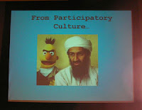 this doctored photo shows 'Evil Bert' in the company of Bin Laden