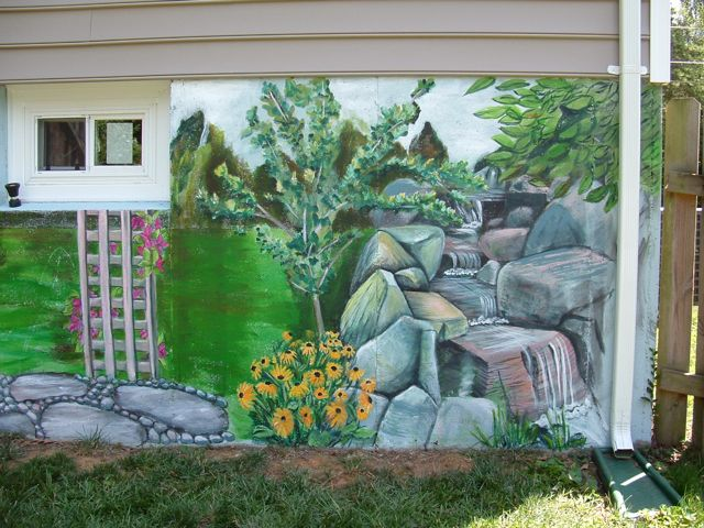 Paint everywhere murals garden mural for Mural garden