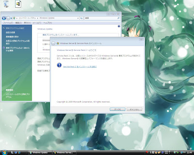 Windows Server 2008 SP2 Beta インストール Part4