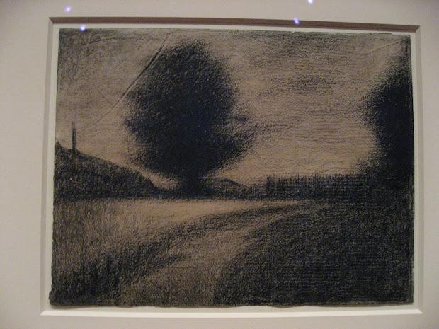 Seurat Landscape Drawings