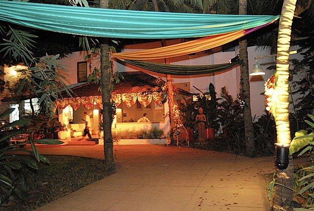 Wedding decorations for Sangeet ceremony