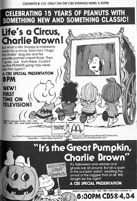 the special aired on cbs every season until 2001 when abc purchased the rights to the classic peanuts specials and padded them with some poor quality extras - Charlie Brown Halloween Abc