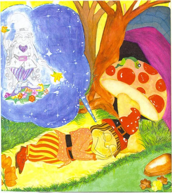 """Ilustração interna  do livro""""Sonho"""" livro infantil"""