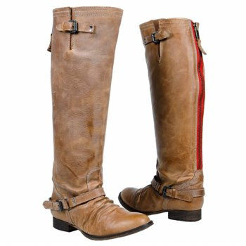Steve+Madden+Boots+With+Red+Zipper+On+Back