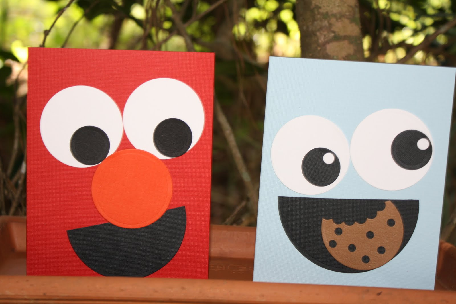 Here is my Elmo and Cookie Monster: