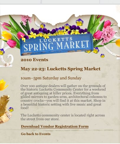Furniture Stores In Leesburg Va Matters of Style: See you there? Lucketts Annual Spring Market