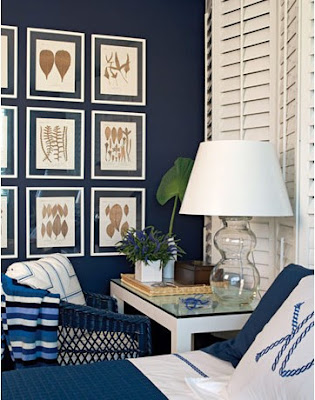 Navy Blue Living Room Accent Wall
