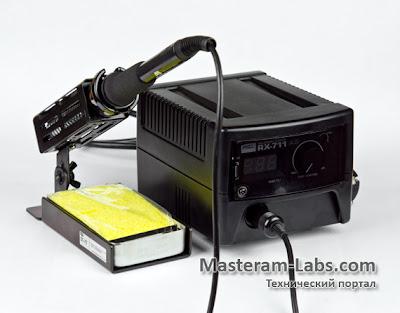 Комплектация паяльника Goot RX-711 AS
