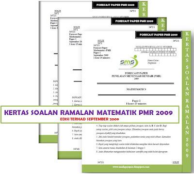 "Kenapa ""Kertas Soalan Ramalan Matematik PMR 2009 (Forecast Paper"