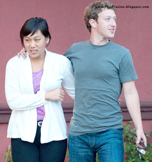 Mark Zuckerberg With Girlfriend Priscilla Chan. girl friend Priscilla Chan