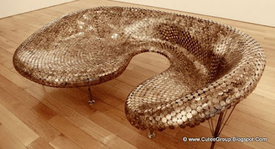 Sofa Made of Coins