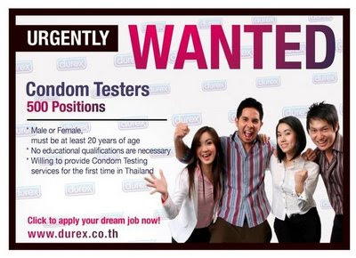 thailand condom ad Beneath the strange restaurant gimmick are thailand's family planning and population policies.
