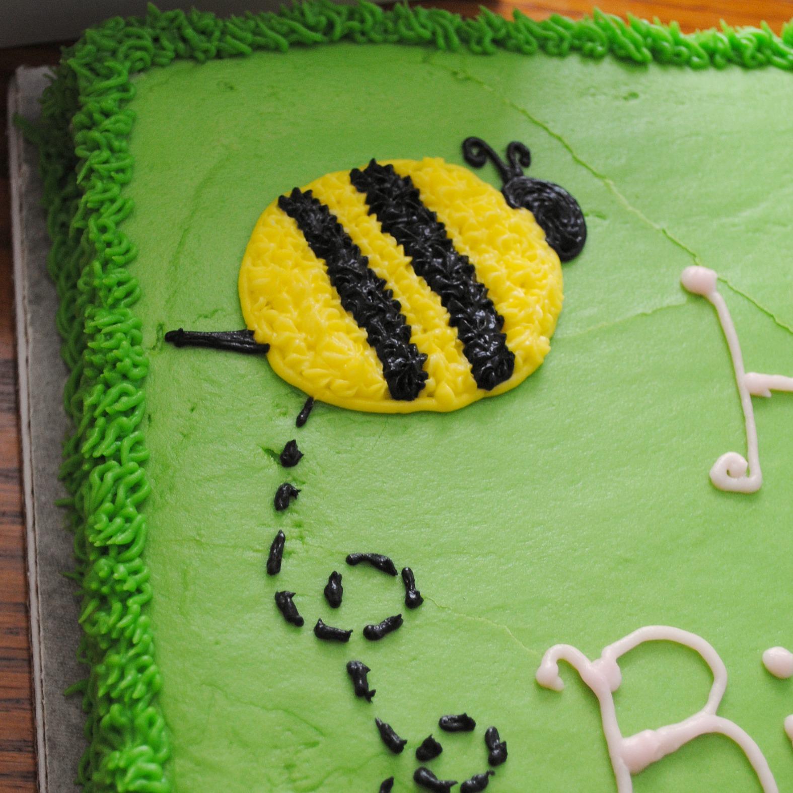 Classic Yellow Birthday Cake