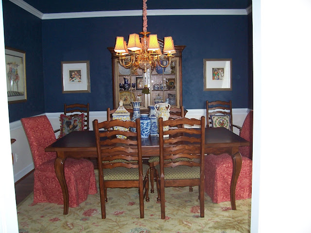 Navy Blue Walls Dining Room Viewing Gallery