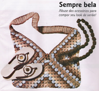 Gr  Fico De Bolsa Tejida A Crochet