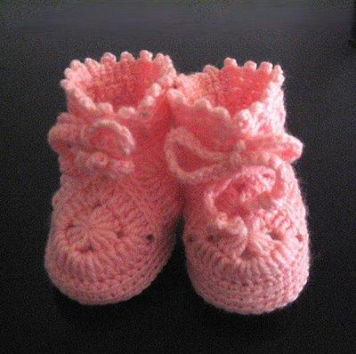 Botines para bebe a crochet fácil