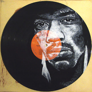 Jimi Hendrix - (i) inspired by photo by David Montgomery