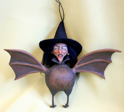Batty Hag Ornament from Sheila Bentley