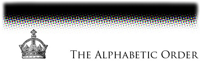 The Alphabetic Order