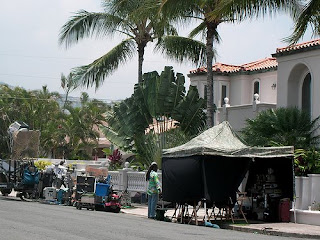 Looks like a part was being filmed and Sayid Episode 4x13 There's No Place Like Home - Party at Hurley's Mansion *Updated*