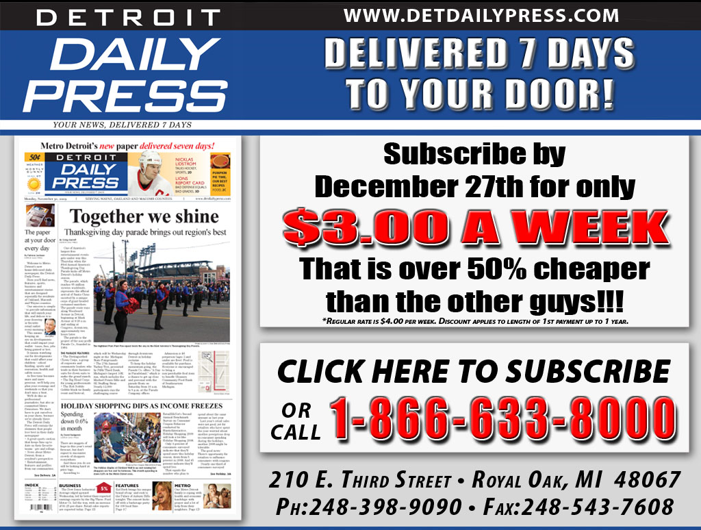 detroit%2Bdaily%2Bpress%2Bscreenshot When brothers Mark and Gary Stern announced a new daily newspaper in Metro ...