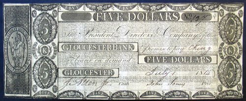 1814 Five Dollar Bill