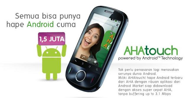 Harga dan Spesifikasi AHA Touch - Ponsel Android (Video)