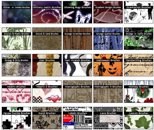 Kumpulan brush photoshop terlengkap - Blog azis Grafis