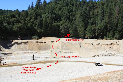 annotated gravel pit