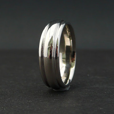 This is a men 39s Palladium wedding band