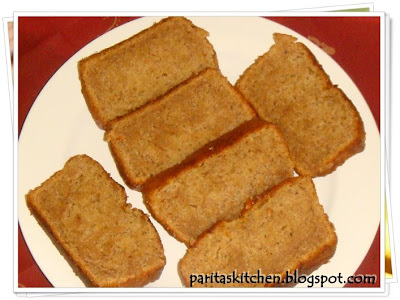 Fatfree Eggless Banana Cake Recipe