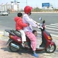 El carné por puntos y la nueva Ley de Tráfico - moto con niños