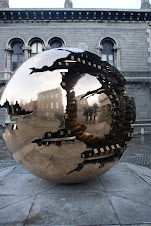 "The ""Sphere with Sphere"" sculpture at Trinity"