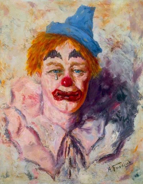 Famous Sad Paintings Sad Clown Face Painting