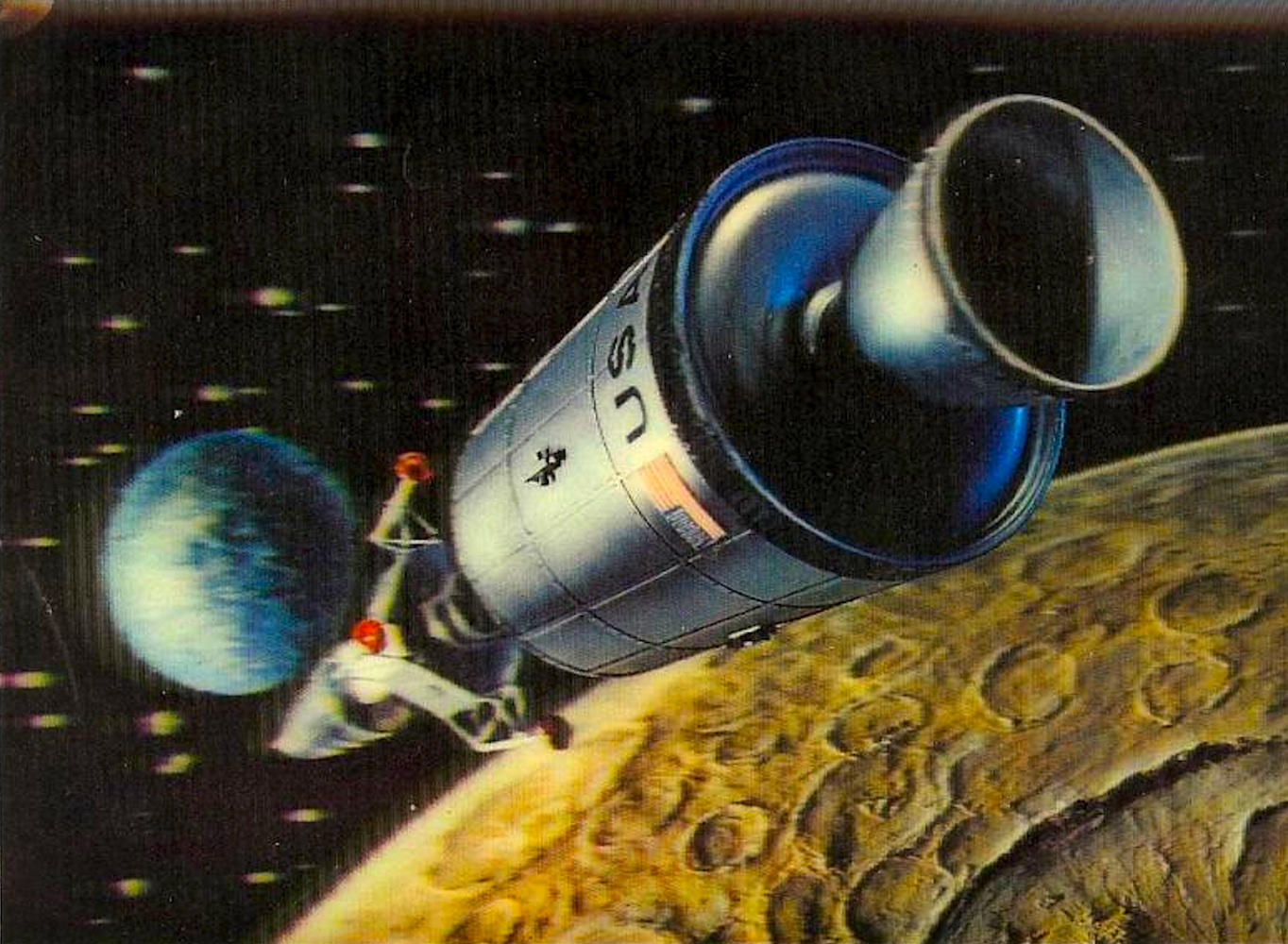 Vintage nasa art page 4 pics about space for Retro outer space