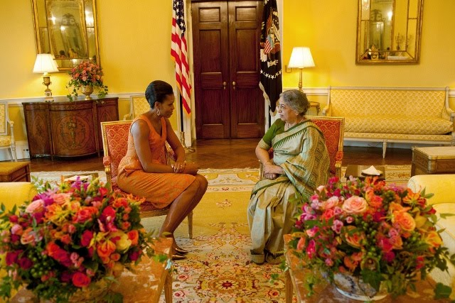 Bricolage flowers for india official white house photo by samantha appleton because they look beautiful the ladies the flowers mightylinksfo