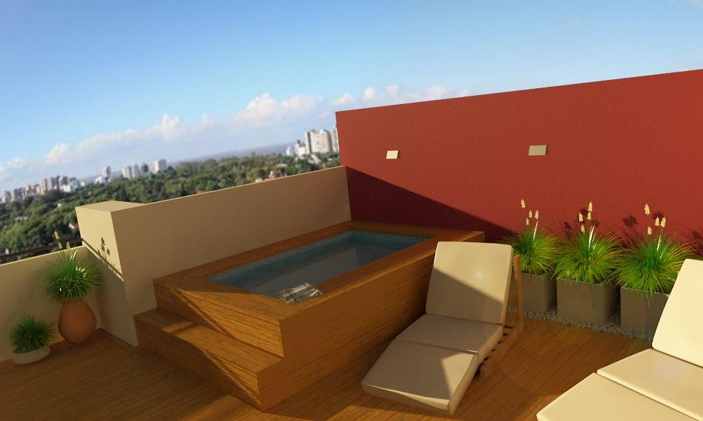 naverender terraza con quincho y pileta