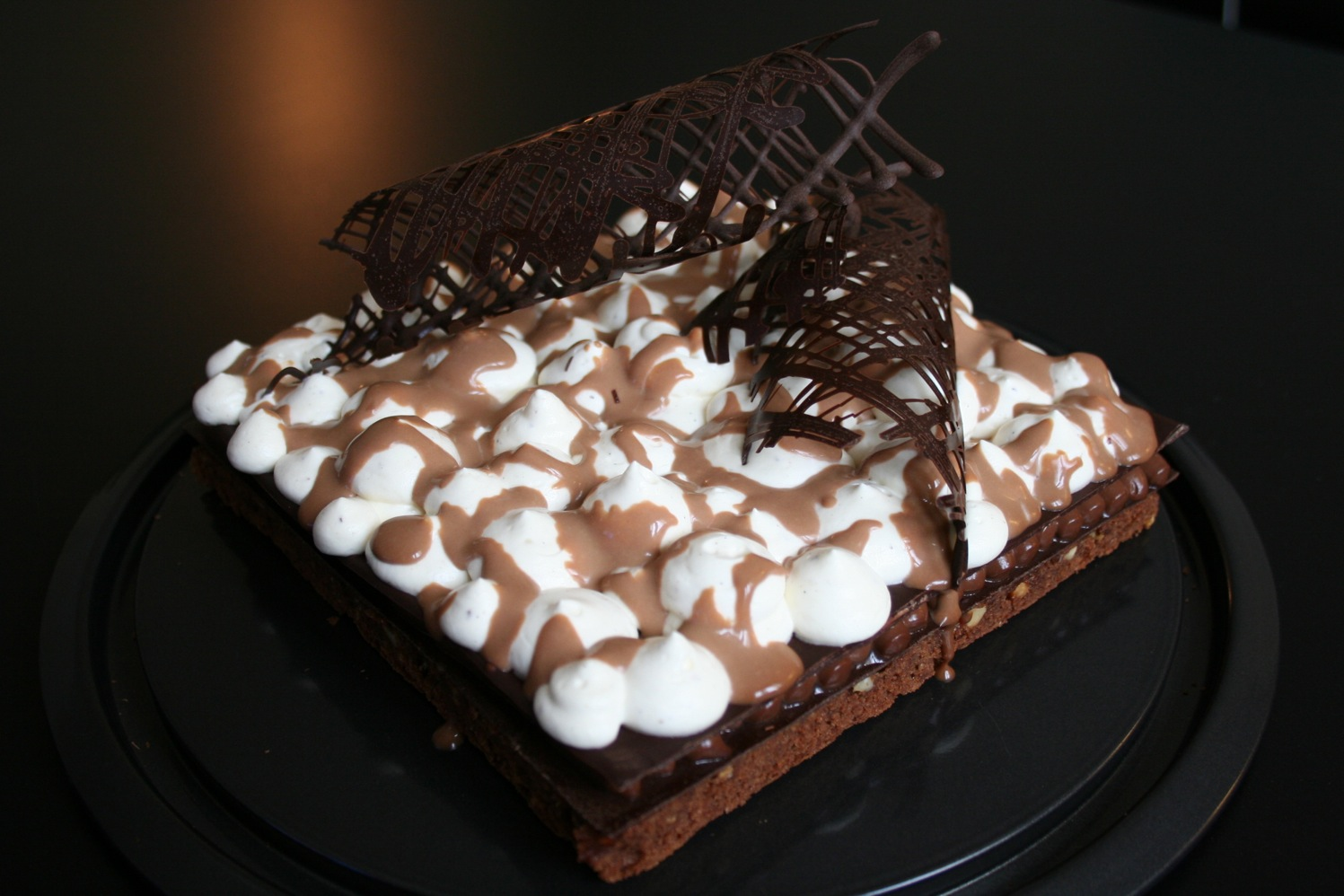 la tarte au fromache g 226 teau trois chocolats et nougat