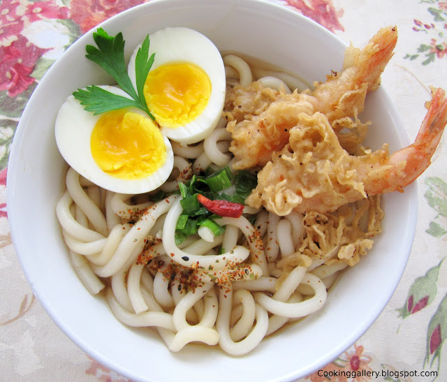 Prawn Tempura Udon Noodle Soup | Cooking Gallery
