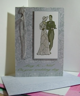 Art Nouveau inspired wedding card