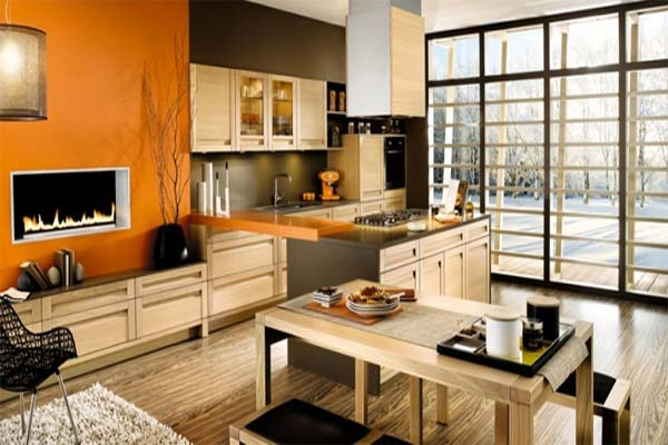 Uzumaki Interior Design Kitchen With Orange Design schemes