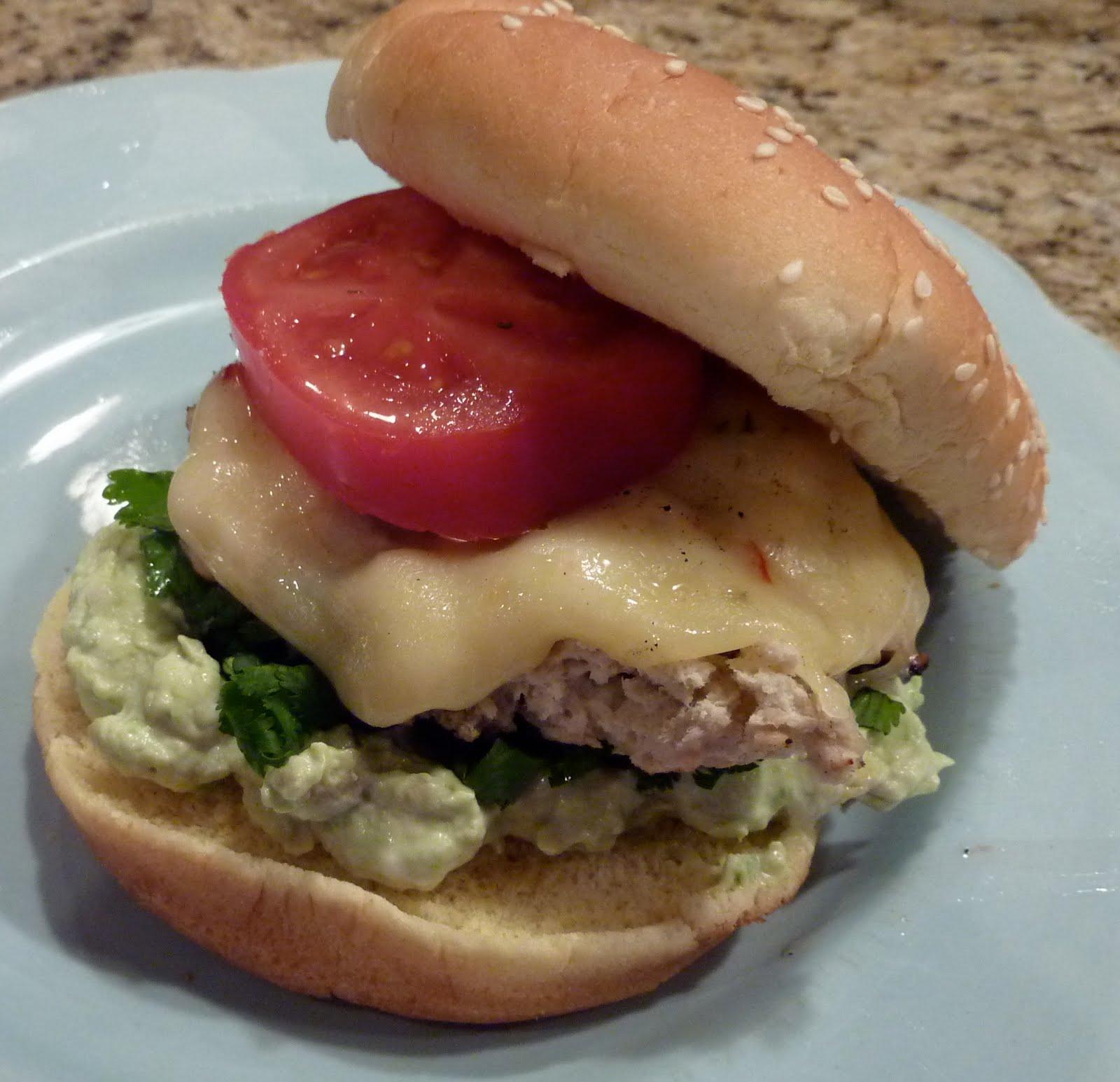 Sparrows & Sparkle: salsa verde turkey burger {my favorite}
