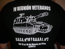 Camisetas IV reunión veteranos del RACA Nº 14.