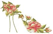 Coral Roses Stiletto