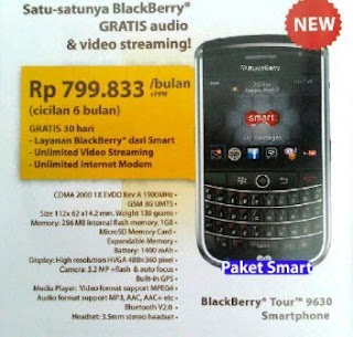 Blackberry 9630 Tour paket smart