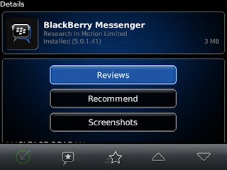 Blackberry Messenger 5.0.1.41