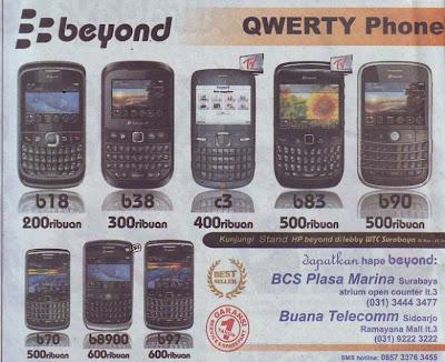 harga ponsel beyond
