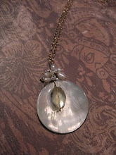 MOP shell, pearl and citrine pendant
