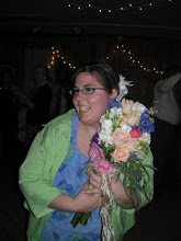 Look who caught the bouquet