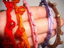 Pulseiras em Crochet